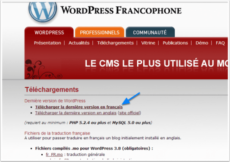 Where download wordpress