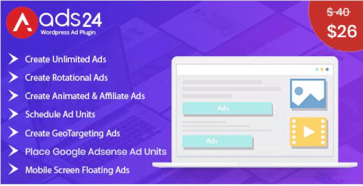 Ads24 ultimate wordpress advertising plugin