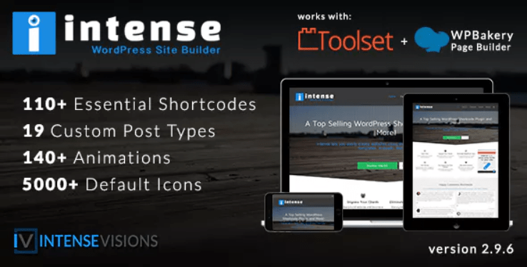 Intense shortcodes and site builder wordpress