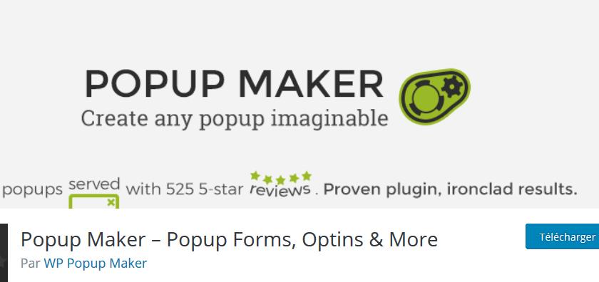 Popup maker plugins wordpress premium creer pop up