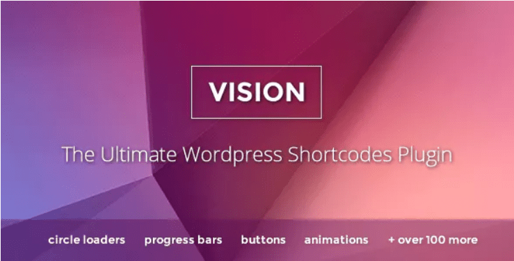 Vision wordpress shortcodes plugin