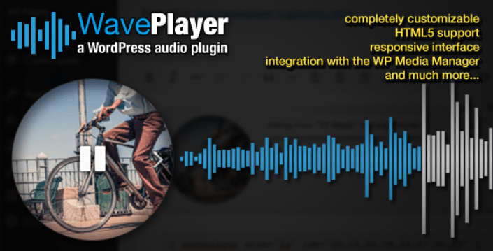 Waveplayer plugins wordpress premium ajouter lecteur audio