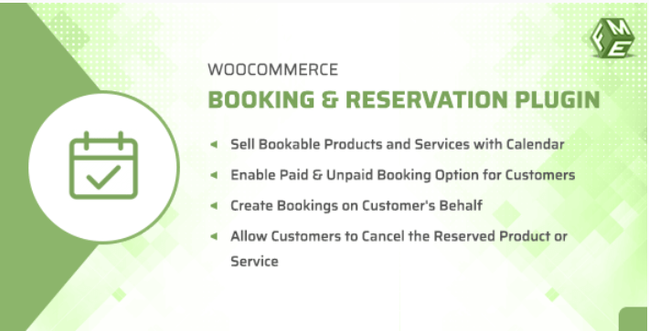 Woocommerce booking reservation