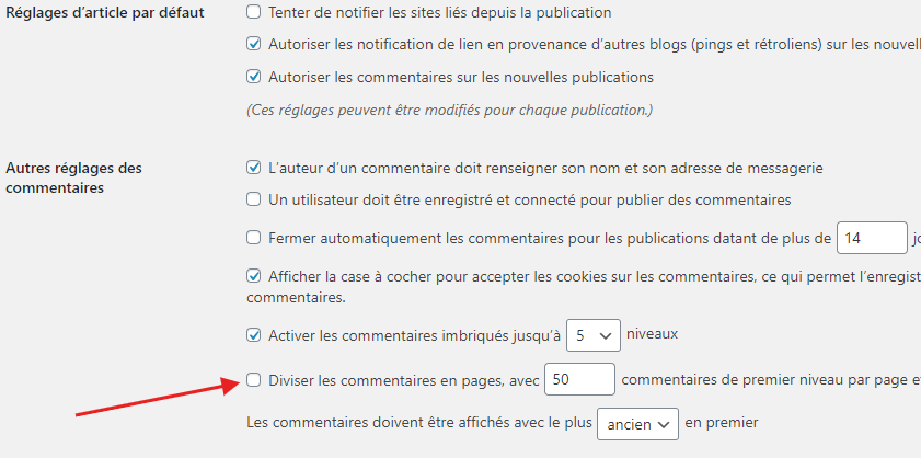 comment configurer tableau de bord wordpress 3