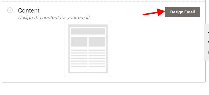 Concevoir un email mailchimp
