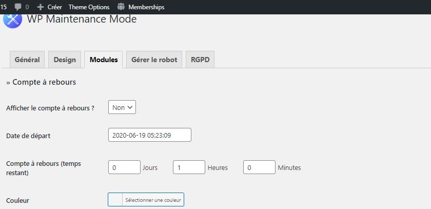 comment mettre blog wordpress en mode maintenance blogpascher 4 e1592545477674