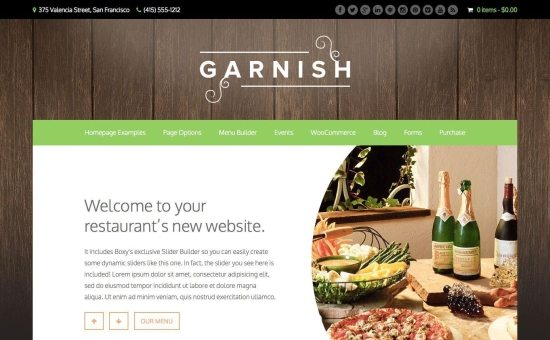 5 Temas de WordPress para crear un blog de comida   BlogPasCher