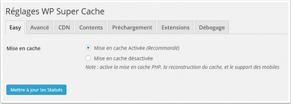 installer et configurer le plugin WP Super Cache - wp-super-cache