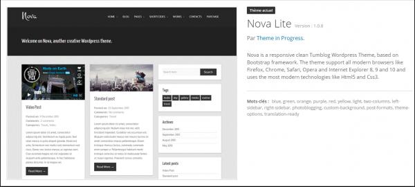 Nova Lite: tema de WordPress gratuito de la semana | BlogPasCher