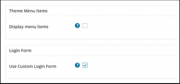 opções-the-menu de-and-a-page-de-connection