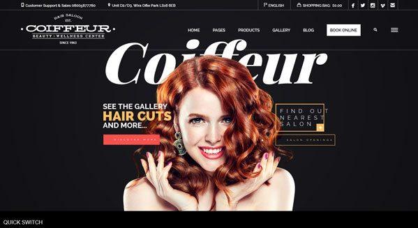 Coiffeur theme wordpress creer site salon coiffure beaute coiffeuse blogpascher - Creer un salon de coiffure ...