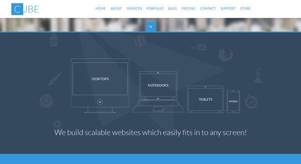 Cube theme wordpress creer site vitrine entreprise societe