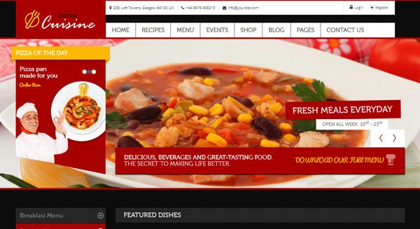 Kitchen Cuisine Theme Wordpress Creer Site Culinaire Restaurant