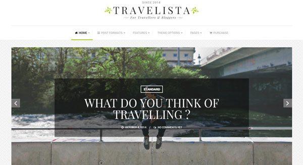 Travelista theme wordpress voyage globtrotter voyageur