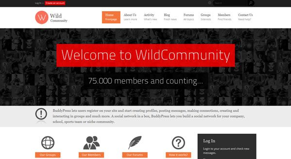 WildCommunity wordpress pour communaute