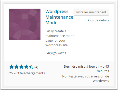 Comment mettre un site web en mode maintenance