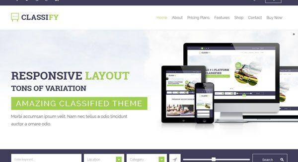 Classify : un thème WordPress pour créer un site de petites annonces