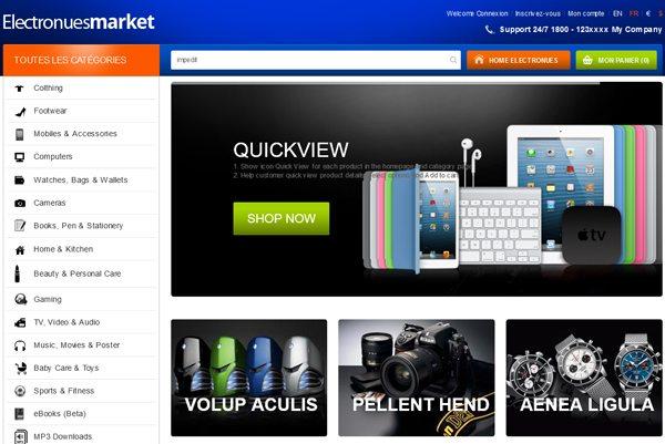 Electronues Responsive PrestaShop Theme Créer Boutique En Ligne
