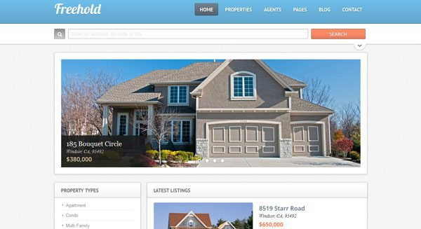 Freehold-theme-wordpress criar-web-site-venda-rent-house-estate agência