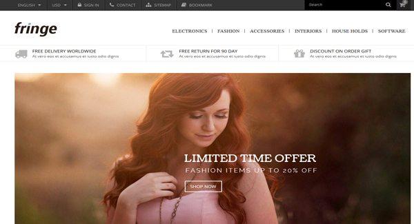 90769b354 Fringe é um tema da PrestaShop, especialmente desenvolvido para a venda de  cosméticos, produtos de beleza e moda. O recurso responsivo e a combinação  de ...