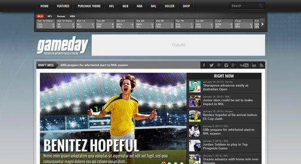 El día del partido: un tema de WordPress para crear un sitio de ...