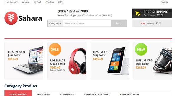 77a24a60d Sahara: Um tema PrestaShop para uma loja de moda | BlogPasCher