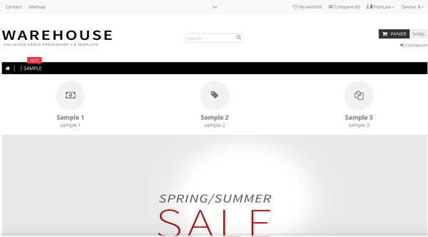 Склад-Адаптивный PrestaShop Тема-на-веб-сайт - электронная коммерция