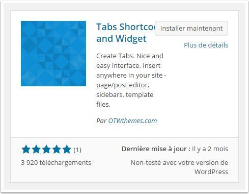 tabs-shortcode-installation-tableau-de-bord