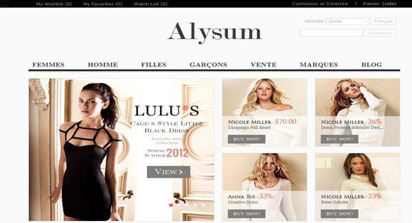 Alysum Thème Prestashop Pour Vendre Des Vêtements