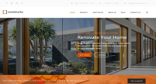 Constructo-theme WordPress-se criar-site-d'architecte
