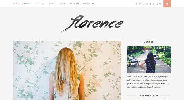 Florence : Un thème WordPress pour créer tout type de blog