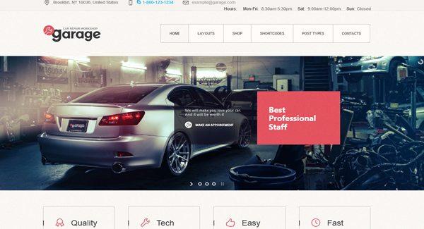 Garage : Un thème WordPress pour créer un site de garage