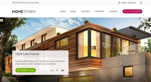 Hometown-thème-WordPress-pour-créer-site-d'agence-immobilière