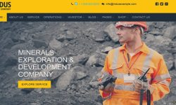 Indus theme for WordPress-create-a-website-d'entreprise-exploration-extraction