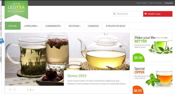Leo Tea Thème Prestashop Pour Vendre Du Thé Sur Internet
