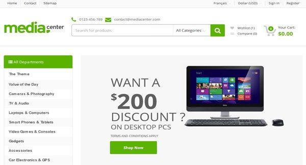 MediaCenter-PrestaShop Тема для продажи-оф-компьютеров