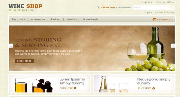 Wine Shop Thème Prestashop Pour Créer Site ECommerce De Boissons