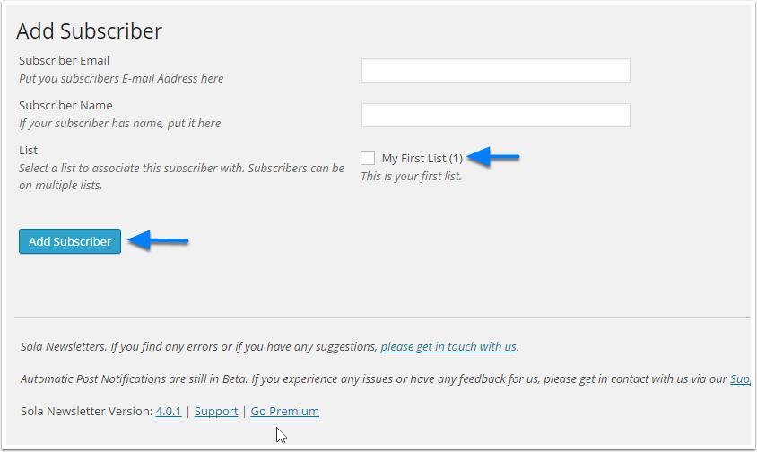 adicione-a-subscrever interface de sola