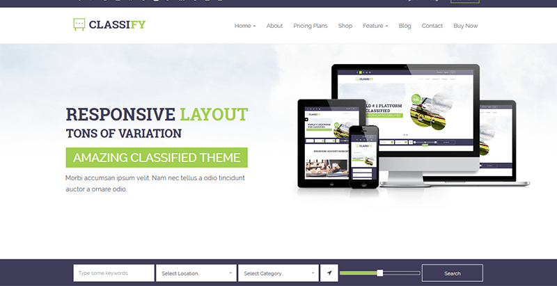 Classify classified ads wordpress theme creer site petites annonces