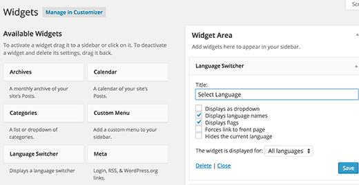 Widget-Sprache-Switcher