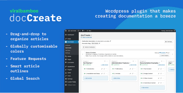 Doccreate comment creer documentation produits wordpress