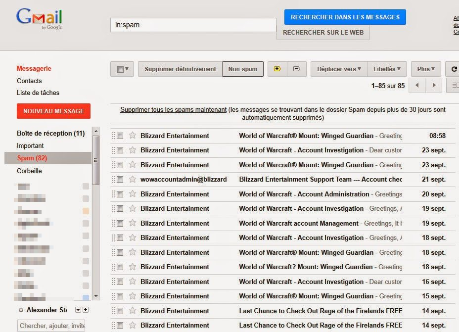 spam de Gmail