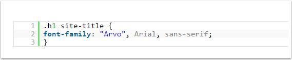 Use o código-font-face
