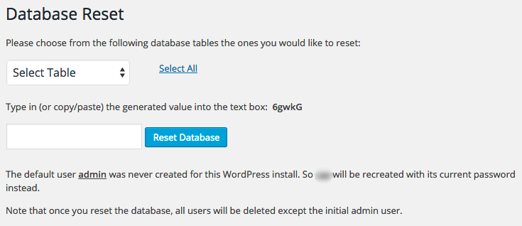 database-reset