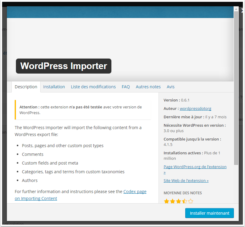 wordpress-importer-outil