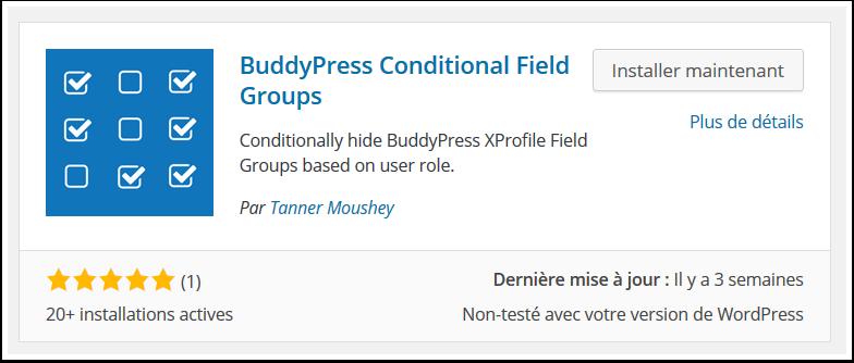 buddypress-conditionnal-field