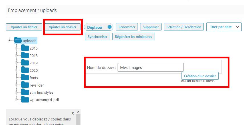 Comment organiser fichiers wordpress dossiers bibliothèque médias blogpascher 2