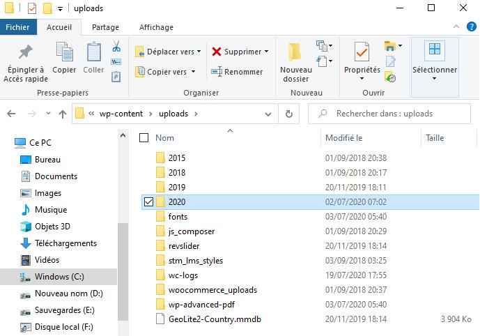 Comment organiser fichiers wordpress dossiers bibliothèque médias blogpascher