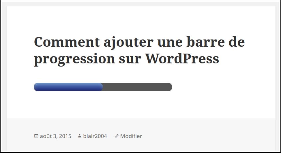 Cómo agregar una barra de progreso en WordPress | BlogPasCher