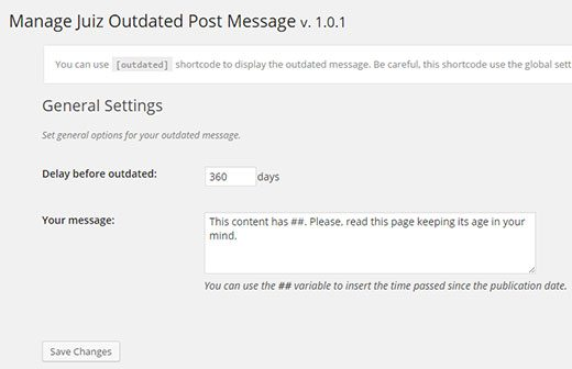 outdated-post-message-settings